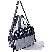 GMH 2 piezas bolsa de pañales cambiantes bolsa de pañales del bolso de bebé en color Negro Azul 2130