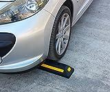 PWS-32Bx2 Kunststoff Radstopp-Parkbegrenzung für gewerbliche und private Parkhäuser, Parkplätze und Privatgaragen, Farbe Schwarz, Abmessungen 53 x15 x 9,5 cm (2er Pack)