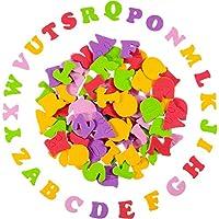 900 Piezas de Mini Pegatinas de Letra de Espuma Autoadhesivas de Colores Variados Pegatinas de Alfabeto
