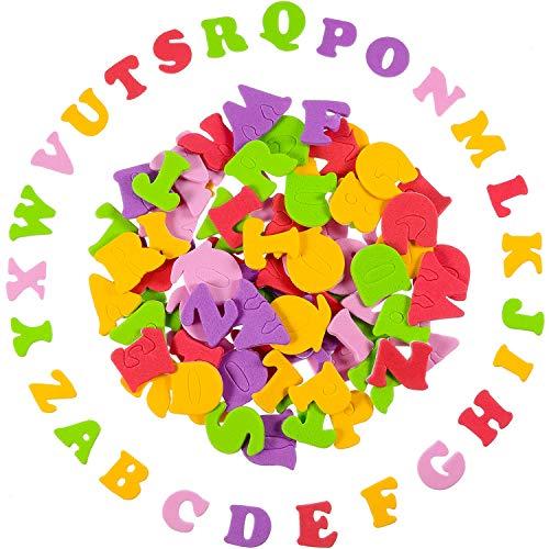 Hestya 900 Stücke Mini Sortierte Farben Selbstklebende Schaum Buchstaben Aufkleber Alphabet Aufkleber für Kinde -