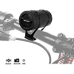 Bluetooth pour Vélo IPX3 Extérieur Haut Parleur Sans Fil Bluetooth Stéréo Portable Rechargeable
