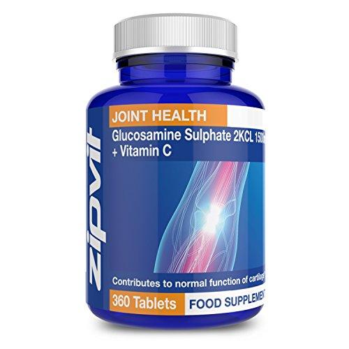 Sulfate de Glucosamine 2KCI 1500mg | 360 Comprimés | Réserves d'Une Année Entière | Renforce la Santé des Articulations et la Fonction du Cartilage | Douleurs Articulaires et d'Arthrite