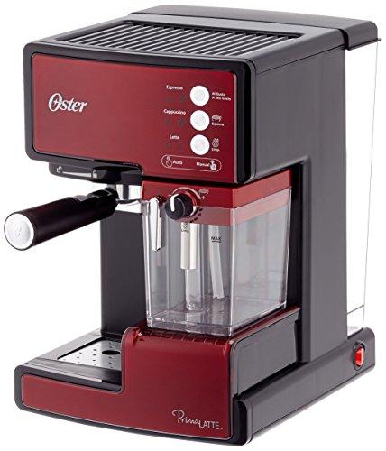 Oster Prima Latte Cafetera expresso con tratamiento de leche, 1238 W, 33 litros, Acero Inoxidable