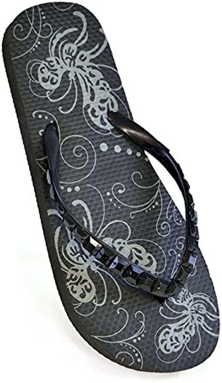 DINZIO Damen-Mädchen-Flip Flop Summer Beach Pool Schuhe mit Juweled Straps