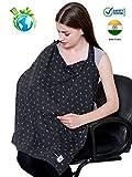 #8: Feather Hug Nursing Cover for Breastfeeding mother, women, Mom, Multi Use, Feeding Apron Cloak,Poncho, scarf, ups, Wrap, Breathable, Canopy, Babysitting, Maternity, Kurti, Shawl, Poplin (Grey)