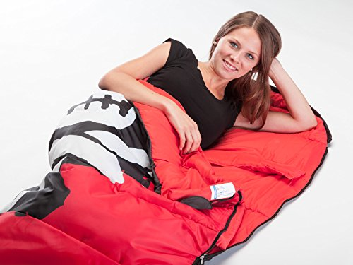 Skandika Isla de Muerta Mummy Sleeping Bag - Red/Black, 220 x 80 cm