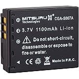 Mitsuru® batterie de rechange pour Panasonic CGA-S 007 CGA-S007 CGAS007 , Panasonic Lumix DMC-TZ 1 DMC-TZ 2 DMC-TZ 3 DMC-TZ 4 DMC-TZ 5
