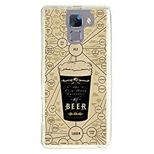 a AND b Designer Printed Mobile Back Cover / Back Case For Huawei Honor 7 (HON_7_922)