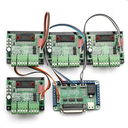 SainSmart 4 Axis TB6560 CNC Stepper Motor Driver Controller Board Kit,57 two-phase,3A - Drehmoment-controller