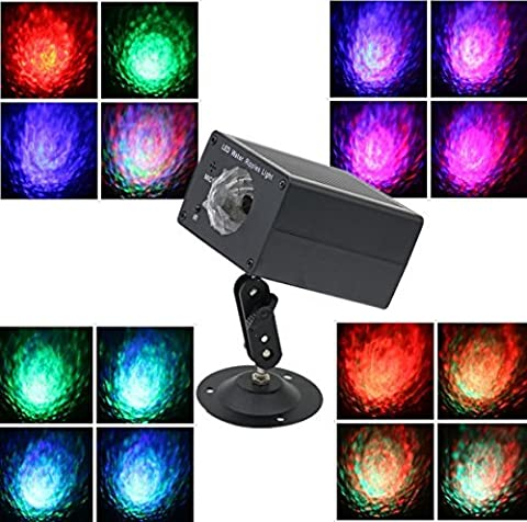 16 Colors Disco DJ Lights Party Light LED Stage Lights, Konware Water ripples Lights party light Wedding light with Remote, Ocean Wave Effect Strobe Lights for Parties home birthday outdoor