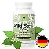 VITA1 Wild Yams Wurzelextrakt 500mg • 120 Kapseln (2 Monate Vorrat) • Vegan mit Vitamin C & Zink • Hergestellt in Deutschland