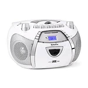 auna beebop poste radio cd cassette portable lecteur cd k7 fonction r p tition et mode. Black Bedroom Furniture Sets. Home Design Ideas