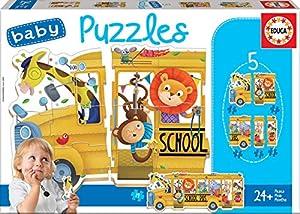 Educa Borrás animalitos Baby Puzzles School Bus (17575)