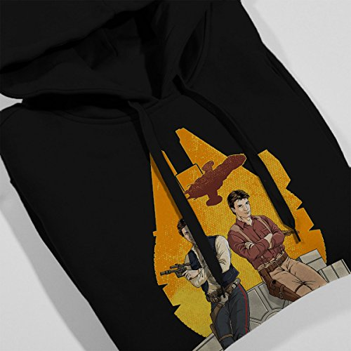 Partners In Crime Han Solo Mal Star Wars Firefly Women's Hooded Sweatshirt Black