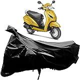 #3: Adroitz Bike Covers, Bike Body Cover for Honda Activa 5G Bike with Mirror Pocket in Matte Plain Black