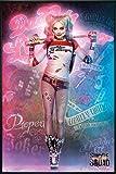 Suicide Squad Poster Stehend Harley Quinn (93x62 cm) gerahmt in: Rahmen schwarz