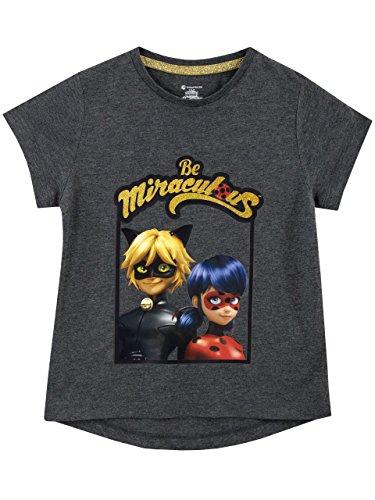 Miraculous Camiseta Para Niñas Ladybug y Cat Noir - 6-7 Años