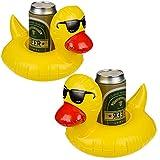 Bada Bing 2er Set Aufblasbare Getränkehalter Badeente Schwimmtiere Garten Pool Deko 80