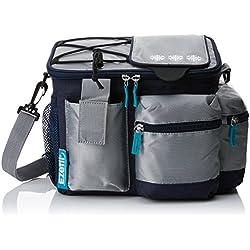 EZetil Kühltasche KC Travel in Style 6 zur Kühlung von Speisen und Getränken - ob unterwegs beim Wandern und Picknicken oder dem heimischen Garten, Blau/Silber 5,1 Liter Fassungsvermögen 28x18,5x22cm