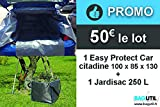 SO BAG Bâche de Protection Coffre et habitacle de Voiture citadine + Sac de Jardin 250 L - BAGUTIL France