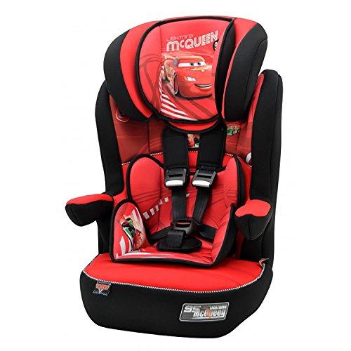 mycarsit Autositz Disney, Gruppe 1/2/3(von 9bis 36kg), Motiv Cars