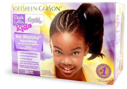 Relaxer/crème de lissage Dark and Lovely Beautiful Beginnings Kids Soft N Straight No Lye Relaxer Fine Hair