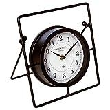 Pendule horloge à poser - Style rétro - Coloris NOIR