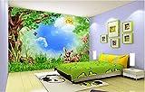 Yosot Großer Innenraum Malen Kinder Lieblingstapete Wald Wald Tiere Kinderzimmer Wandbild Hintergrund 3D Tapete-140Cmx100Cm