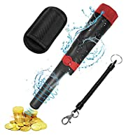 CABLETRANS Pinpointer Metal Detector, Portable Pinpointer with IP66 Waterproof and 360°Scan High Accuracy, Pinpointer with Buzzer Vibration and LED for Gold Coin Treasure Hunt for Kids Adults (black)