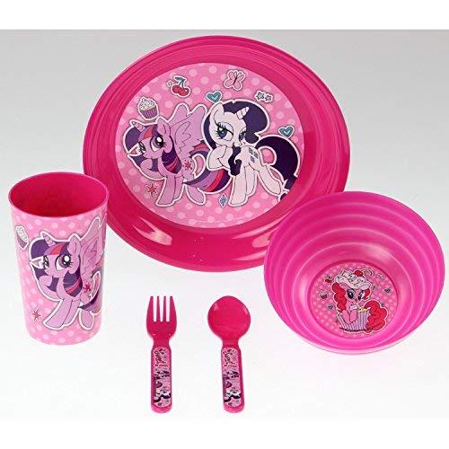 Disney Frühstücks-/Abendessen-Set mit Motiv aus My Little Pony, 5-teilig