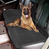 Amzdeal Hundedecke Auto, Autositz Decke, Autoschondecke, Hund Autodecke aus 600D Oxford Tuch und Faserplatte, bequem und hygienisch Wasserdichte Hundedecke, Schwarz