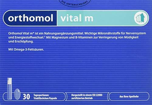 Fisch-Öl Plus Vitamin (Orthomol Vital M Trinkflaschen plus Kapseln, 30er Packung)