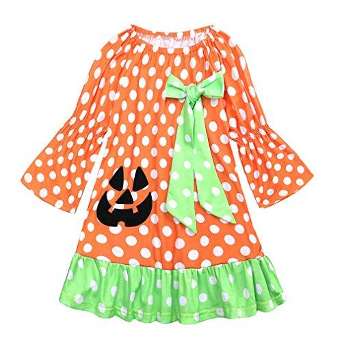 Halloween Kleid Baby Kürbis Kostüm Baby Mädchen Bogen -