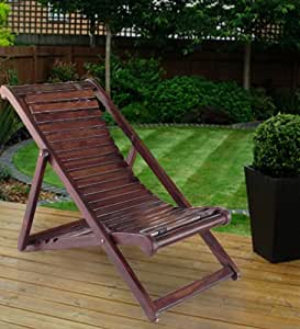 Lifeestyle Folding Relaxing Chair In Sheesham Wood