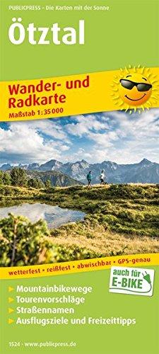 Ötztal: Wander- und Radkarte mit Ausflugszielen & Freizeittipps, wetterfest, reißfest, abwischbar, GPS-genau. 1:35000 (Wander- und Radkarte / WuRK)