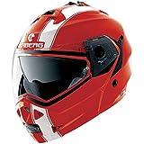 Caberg Duke Legend Flip Front Motorcycle Helmet XS Red White