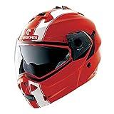 Caberg Duke Legend Flip Front Motorcycle Helmet M Red White