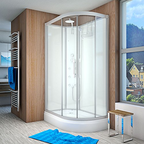 AcquaVapore QUICK16-7000R Dusche Duschtempel Komplette Duschkabine 80x120, EasyClean Versiegelung:OHNE 2K Scheiben Versiegelung