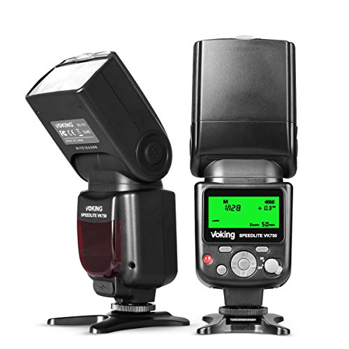 Voking VK750 Pantalla LCD Manual Flash Speedlite universal para Canon Nikon Pantax...