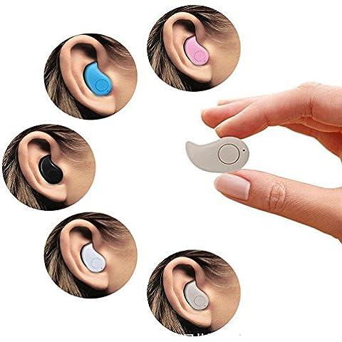 Mini Bluetooth Headset, GoldFox Mini Bluetooth 4.0 auricular de auricular inalámbrico estéreo ergonómico sin música oído hilos, Mini Wireless Bluetooth Headset 4.0 Sigilo Auriculares S530 para el teléfono móvil(color de piel)