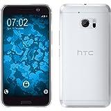 PhoneNatic Case für HTC U11 Hülle Silikon Crystal Clear transparent Cover U11 Tasche + 2 Schutzfolien
