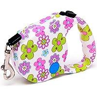 Einziehbare Hundeleine, für mittelgroßen Hund Bequemer, ergonomischer Handgriff, Verwicklungsfrei, Einfach EIN-Knopf-Break & Lock-System