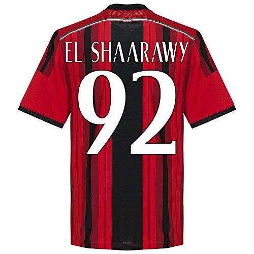 adidas AC Milan Home EL Shaarawy Jersey 2014/2015 (Fan Style Printing) - XX Large (Shaarawy El Trikot)