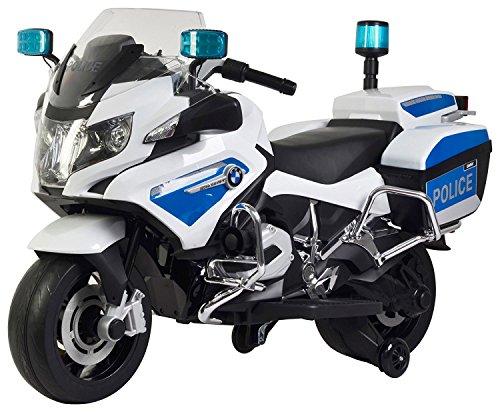 giordano shop Moto Elettrica per Bambini 12V BMW R1200 Police Bianca