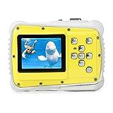 """PELLOR Fotocamera per Bambini, Mini Fotocamera Digitale Impermeabile 2"""" Schermo LCD, Digital Camera Kids Videocamera 8MP, Zoom Digitale 4X, Macchina Fotocamera per Bambini(Giallo)"""
