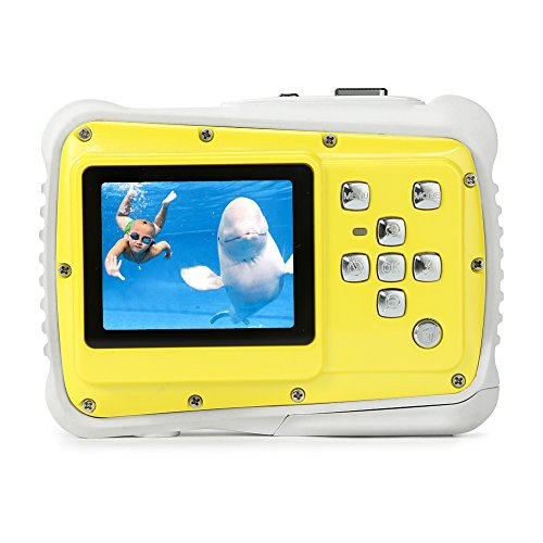 Pellor Cámara para Niños, Impermeable Mini Camara de Fotos Digital Infantil Digital Video Cámara 8MP, 2' Pantalla LCD, Zoom Digitale 4X (Amarillo)