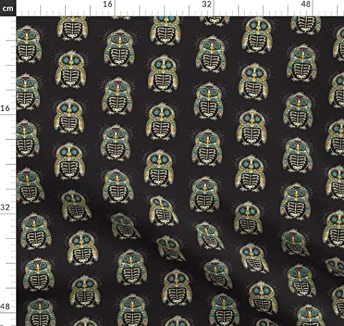 Skelett, Mexikaner, Totenkopf, Tätowierung, Tag Der Toten, Halloween, Pinguin Stoffe - Individuell Bedruckt von Spoonflower - Design von Penguinhouse Gedruckt auf Fleece
