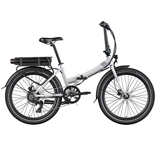 Legend eBikes Siena Smart Bicicleta eléctrica Plegable Inteligente, Adultos Unisex, Blanco Artic, Batería 36V 14Ah (504Wh)