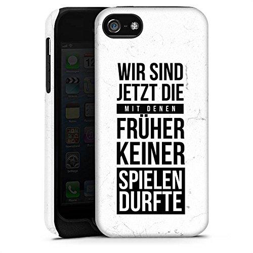 Apple iPhone X Silikon Hülle Case Schutzhülle Humor Spaß Sprüche Tough Case matt
