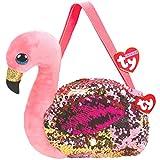 TY Umhängetasche, Plüsch, Sequins, 20 cm, Design: Flamingo, TY95127, Mehrfarbig